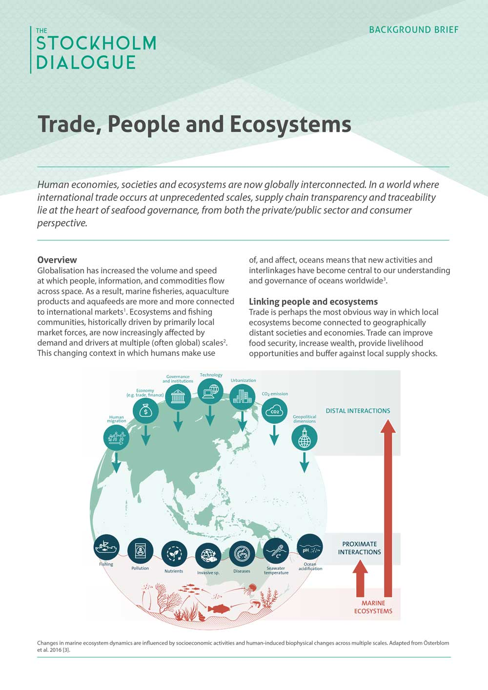 Trade, People and Ecosystems