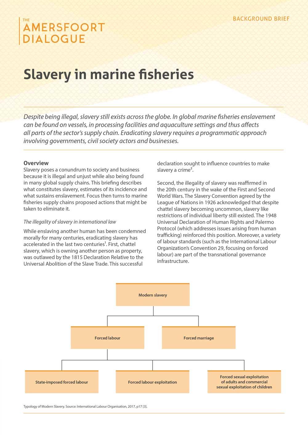Slavery in marine fisheries